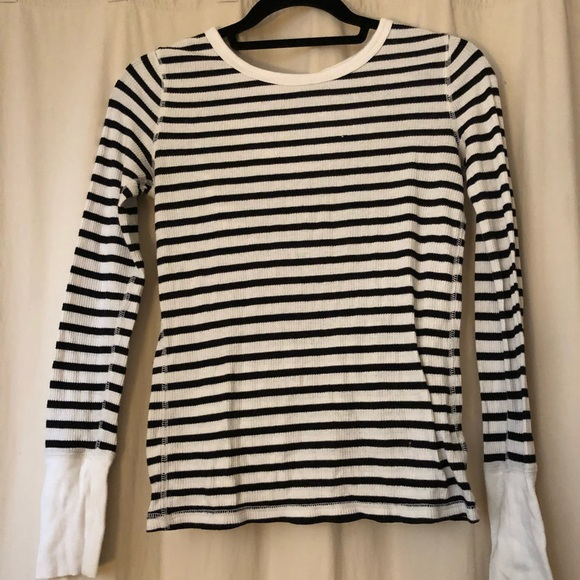 Tops - Gap The Octavia Waffle Crew Long Sleeve Shirt